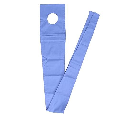 Correa de sujeción, correa de sujeción de seguridad hospitalaria Bandas de cinturón de silla de ruedas de algodón Correa de sujeción de la cama del paciente Azul
