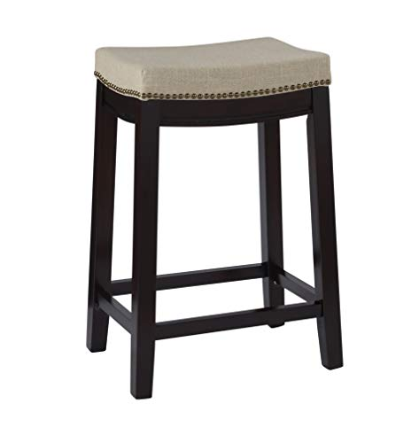 Linon Hampton Stool Fabric Top 24inch