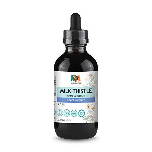 Milk Thistle Tincture - 4 oz. Bottle - Liquid Herbal Drops with Organic Silybum Marianum Extract for Liver Function Support - Natural Non-GMO Dietary Supplement for Cleansing, Bone Health