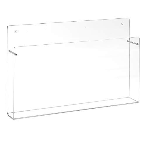 Din A4 Wandprospekthalter im Querformat aus Acrylglas