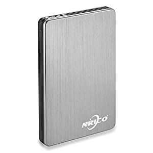 NRICO 250GB Portable External Hard Drive USB 3.0 HDD 2.5inch Storage Compatible for PC, Mac, Desktop,PS4 (250GB, Grey)