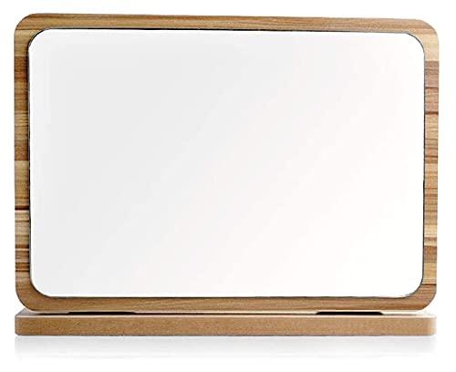 Espejo de Mesa, Espejo de Maquillaje de Madera para Escritorio, Espejo Plegable...