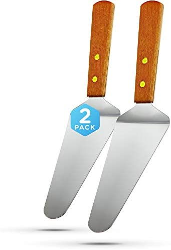 Ram Pro Flatware Pie Server Stainless Steel Cake Cutter Transfer Triangular Spade Spatula for product image