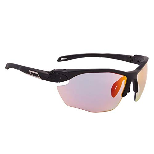 ALPINA Unisex - Erwachsene, TWIST FIVE HR QV Sportbrille, black matt, One Size