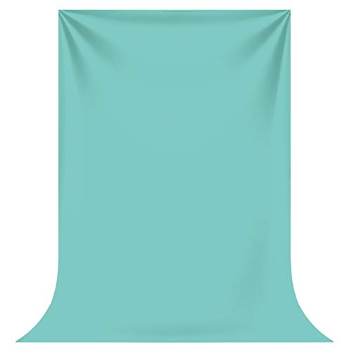 Funnytree Durable Fabric Aqua Sky Solid Color Pure Photography Backdrop No Wrinkles Newborn Baby Shower Birthday Pets Background Child Portrait Banner Photo Booth Props Studio Mini Session 5x7ft