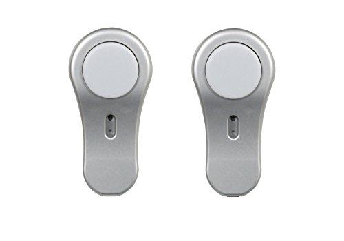 Smartlight 7000.001 2 Lampes ovales Ultra compactes encastrées pour Meubles 12 V (18 mm) avec détecteur de Mouvement