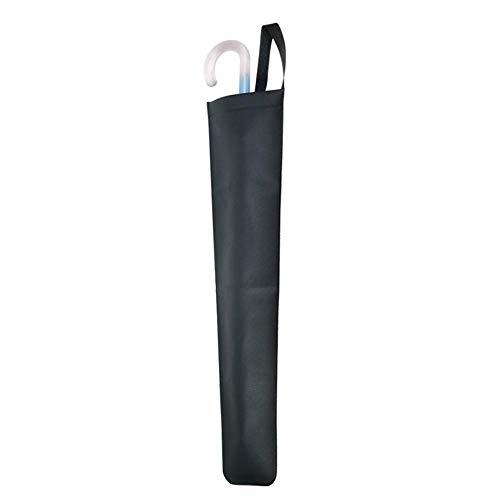 Pangyan990 Bolsa paragüero para coche, tratamiento antibacteriano y desodorante negro, bolsillo extraíble, fácil de descartar, tipo universal, longitud total 66 cm