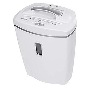 Genie 580XCD-Destructora de papel (hasta 8hojas, microcorte, con CD - trituradora, incluye papelera, color weiß