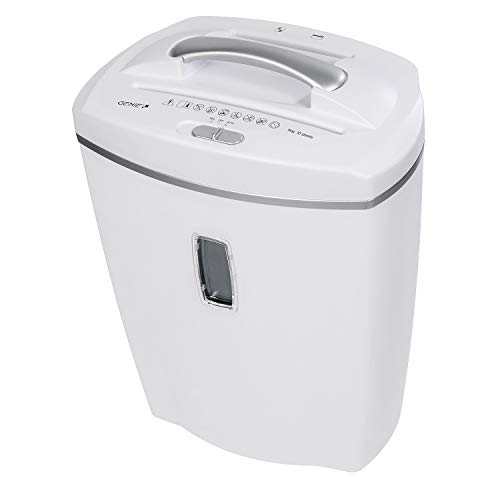 Genie 580 XCD - Destructora de papel (hasta 8 hojas, microcorte, con CD - trituradora, incluye papelera, color weiß
