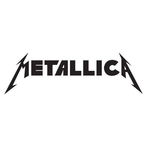 Music Bands Decals Metallica Heavy Metal Car Window Vinyl Decal Sticker 9' Wide (Color: Black)