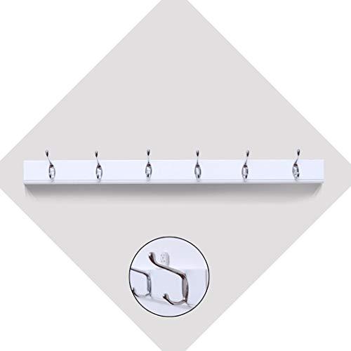 Kapstok, eenvoudige moderne staande kapstok, kledingrek, 3 4 5 6 7 8, haken, natuur, handdoekwarmer, dubbele haken A ++ (maat: 5 haken) 6 haken.