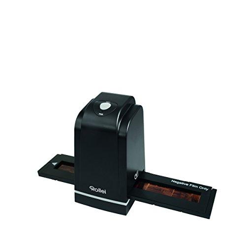 Rollei DF-S 500 SE - Dia Film Scanner für Dias und Negative mit 5 MP und 1.800 dpi Scan-Qualität, USB 2.0 Anschluss, inkl. umfangreichem Zubehör - Schwarz