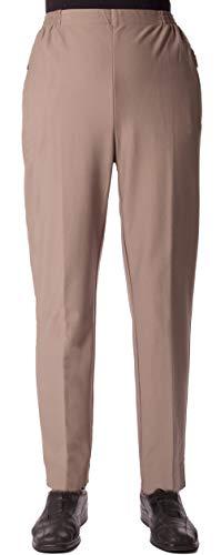Seniorenmode24 Damen Viskose Seniorenhose Schlupfhose Größe 36/38 bis 56/58 mit Gummizug in Kurzgröße dehnbar ideal für Rollstuhlfahrer einfaches an- und ausziehen (Beige, 44/46)