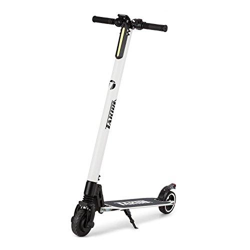 Takira Sc8ter Carbon White Edition - E-Scooter, Patinete eléctrico, Scooter para niños, Motor eléctrico de Potencia 250 W, Autonomía de hasta 28 km y Vel. Máx. 22km/h, Armazón Aluminio, Blanco
