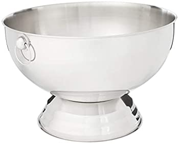 Winco SPB-35 Stainless Steel Punch Bowl with Handles 3.5-Gallon