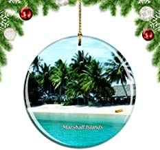 Kysd43Mill Marshall Islands.png Weihnachtsbaum-Dekoration zum Aufhängen, Keramik, Weihnachtsdekoration