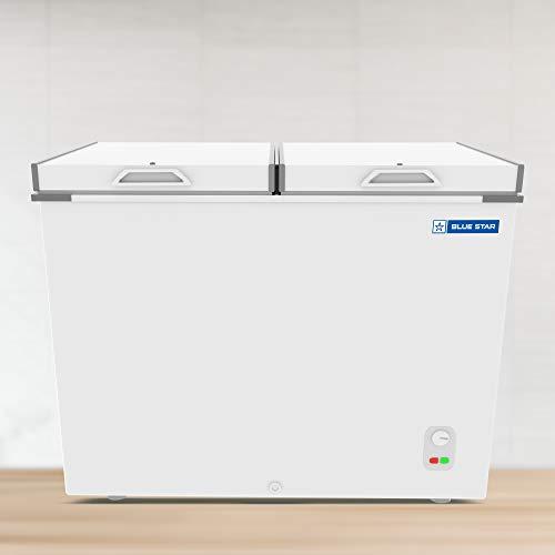 Blue Star CHF400 Double Door Deep Freezer (401 L, White)