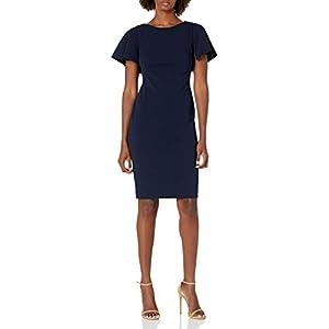 Calvin Klein Women's Flutter Sleeves Sheath Dress