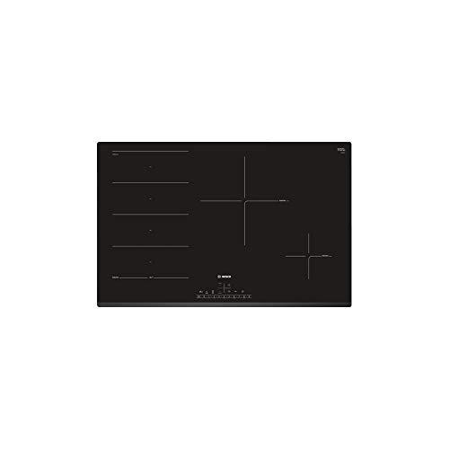 Plaque induction 3 feux Bosch PXE831FC1E - Table vitrocéramique induction 3 foyers dont 1 extensible - Zone FlexInduction - 3 boosters - largeur 80 cm