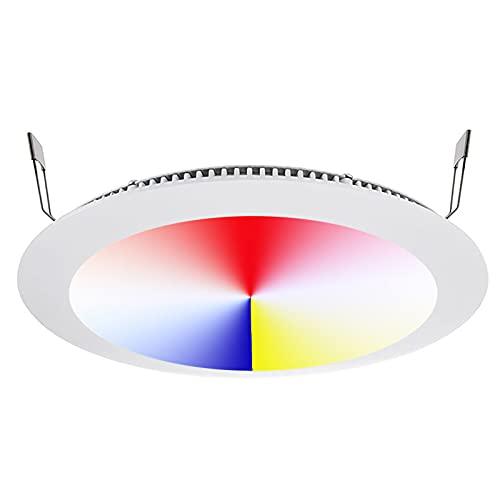 Kit cromoterapia foco LED 16 W DMX 24 V Control de voz RGB RGBW Integrado cabina ducha agujero 22 cm WiFi Alexa Google