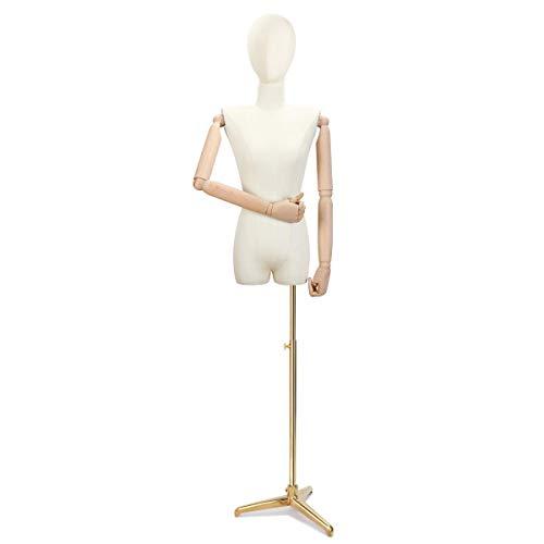 GAXQFEI Fembra Tails Fummy Dressmaking Maniquíes Dummy Mannequin con Brazo Estéreo Cultivo...