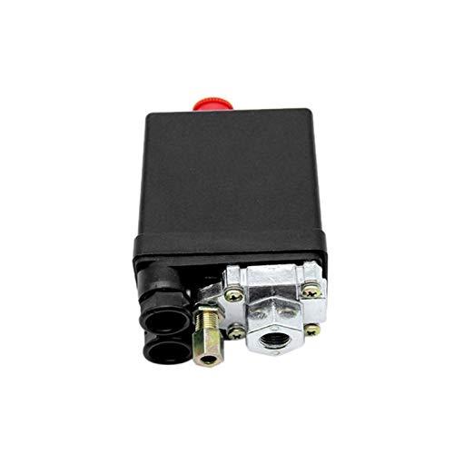 QJKW Partes neumáticas Válvula de Control del Interruptor de presión del compresor de Aire de Servicio Pesado 90-120PSI 1/4 Puerto Piezas neumáticas fáciles de Usar, Resistentes y d (Color : 1)