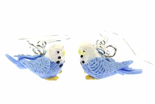 Parakeet Earrings Miniblings Bird Budgies Parakeet Birds Blue Mini