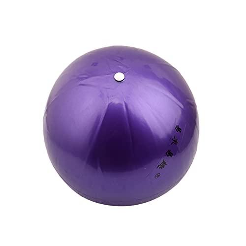 JSBAN 25 cm Bola de Yoga Ejercicio gimnástico Fitness Bola Balance Ejercicio Gimnasio Fitness Yoga Core Bola Entrenamiento Interior Bola de Yoga (Color : Purple)