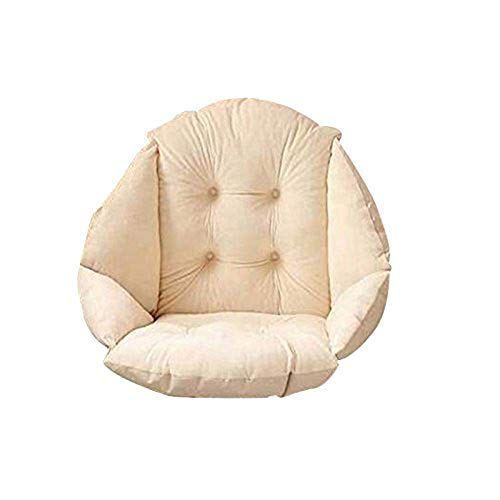 Plush Seat Cushion, Thick Chair Pillow with Ties Back Sciatica Relieve,Cushion Pads Seat Pillow Perfect for Car, Office Chair, Wheelchair,Beige