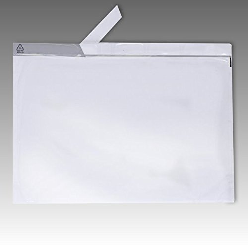 500 Lieferscheintaschen DIN C4 für DIN A4 transparent Begleitpapiertaschen UNIPACK Rechnungstaschen 555201