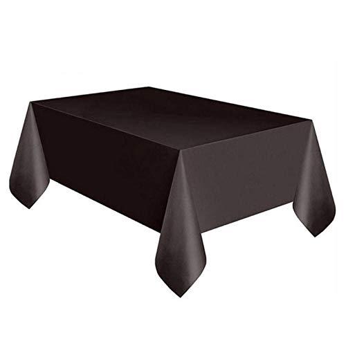Mantel Mesa Rectangular Mantel De Plástico Desechable De Color Sólido, Cubierta De...