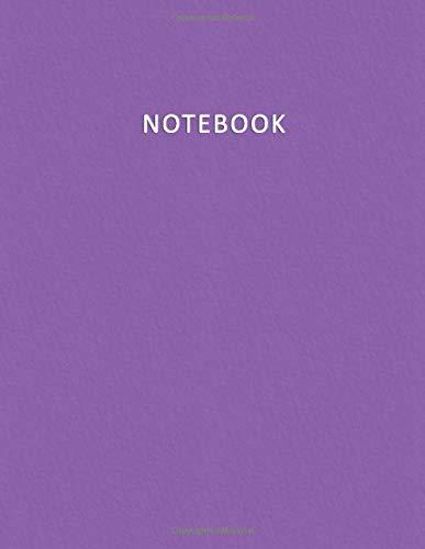 Notebook: Quaderno per appunti con 100 pagine bianche e numerate – Elegante e Moderno color Viola   Violetto – Misura A4 – Diario, Doddles, Schizzi, Disegni, Note, Memorie