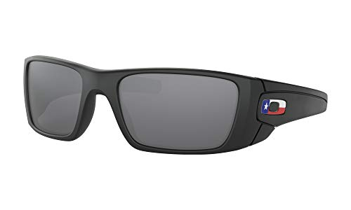 Oakley Men's Standard Issue Fuel Cell Flag Collection Sunglasses,OS,Matte Black/Black Iridium