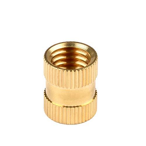 in-saiL 100pcs lot Ranking TOP20 M3x8.0mm OD5.0mm Brass ST-Knurl Hole Through Sale item