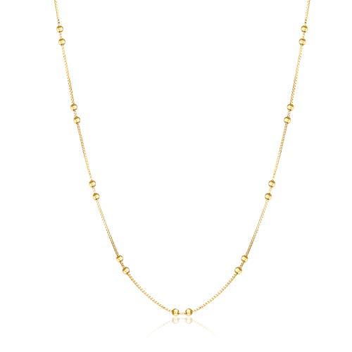 Collana satellitare in oro 24 carati, 1,5 – 2 g