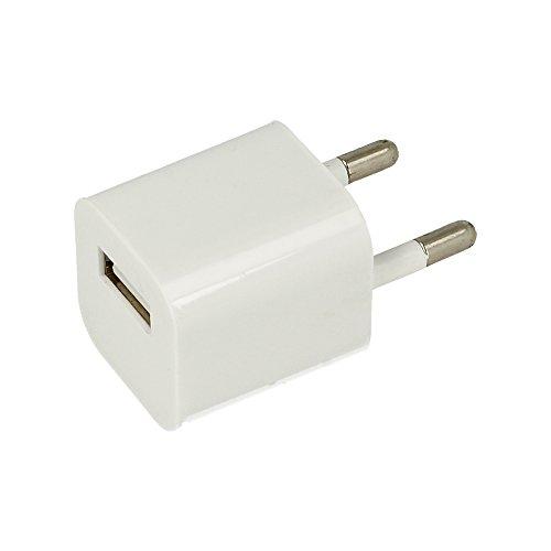 ELECTRÓNICA REY Adaptador de Corriente USB de 5V, Cargador de Pared Universal USB