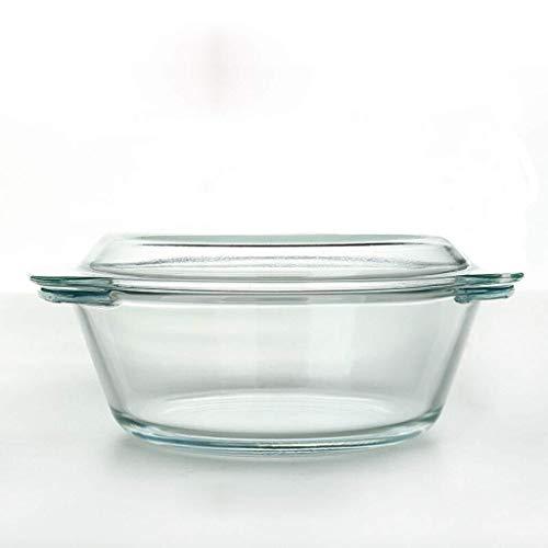 Keramische kom kopen een krijgen een gratis hittebestendige transparante glazen kom met deksel gehard kom Oven Magnetron speciale kom soep kom Salade kom Instant Noodle Bowl Huishoudelijke 2 Liter Magnetron Ove 22.5cm(2.5l)