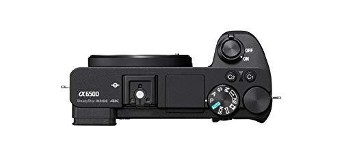 Sony Alpha 6500 | APS-C Spiegellose Kamera ( Schneller 0,05s Autofokus, 24,2 Megapixel, optische 5-Achsen-Bildstabilisierung im Gehäuse, 4K-Filmaufnahmen)