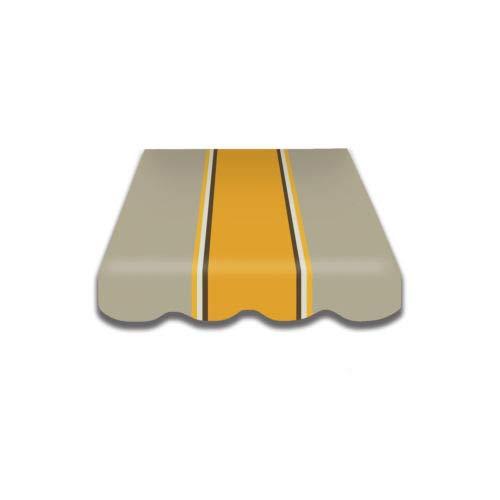 Home & Trends Preiswert Markisen Tuch Markisenbespannung Ersatzstoffe Diverse Fraben Maße 4 x 3 m Markisenstoffen inkl. Volant fertig genäht mit Bordeux (SPD025)