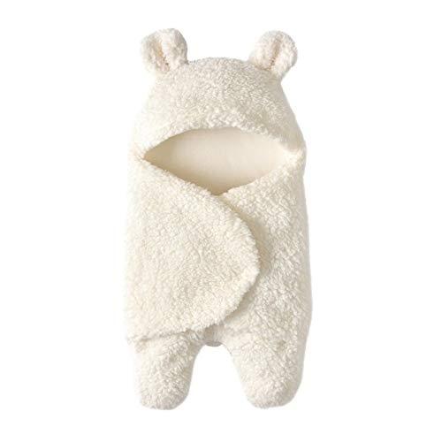 Productos para bebés Saco de dormir para bebé Newborn Leg Warmer Plus Velvet Edredón Productos para bebés (Color : Blanco)