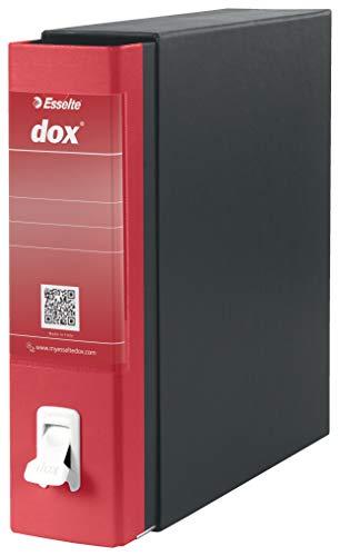 Esselte Dox 1 - Archivador de anillas con palanca (formato A4), color rojo