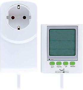SCHWAIGER -661576- medidor de costo de electricidad | medidor de consumo de electricidad | medidor de costo de energía | pantalla grande separada | extensión de cable | voltaje | corriente | energía