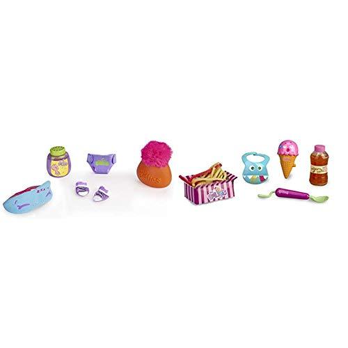 The Bellies - Kit Dulces Sueños, Accesorios para Dormir, Recomendado para niños y niñas a Partir de 3 años + Bellies Crazy Meals Kit de muñecos bebés, para niños y niñas a Partir de 3 años