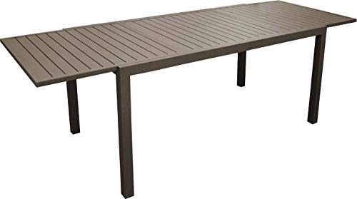 Proloisirs Table en Aluminium avec allonge Solem 268 cm