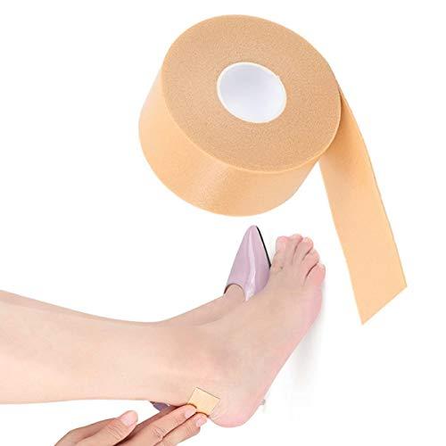 Pegatina protector para el cuidado del pie, talón autoadhesivo Rollo de cinta antideslizante Zapatas de agarre Forro Cojín impermeable para la fricción del zapato de ampolla