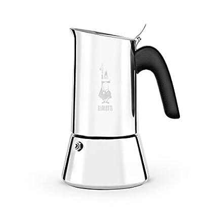 Bialetti New Venus, cafetera espresso (sin inducción), acero, 2 tazas de espresso