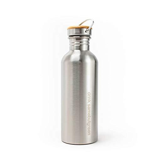 Edelstahl Trinkflasche kohlensäure geeignet - 1000ml Wasserflasche - Auslaufsicher & Plastikfrei