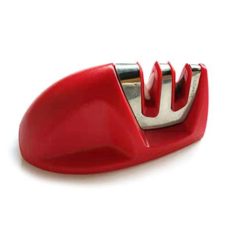 afilador de cuchillo Afilador de cuchillos resistentes Dos etapa Máquina de afilado de etapa Afilado duradero para cuchillos Suministros de cocina Herramienta de piedra de afilado de piedra