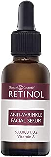 Retinol Anti-Wrinkle Facial Serum – Vitamin A Concentrate Improves Skin's Elasticity & Tone and Minimizes Appearance of Fine Lines & Wrinkles – Look Younger With The Age-Defying Power Of Retinol