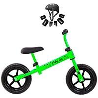 Grupo K-2 Riscko - Bicicleta sin Pedales con sillín Y Manillar Regulables | Ultraligera | Correpasillos Minibike | Bicicleta para Niños de 2 a 5 años Baby Star Verde Fluor